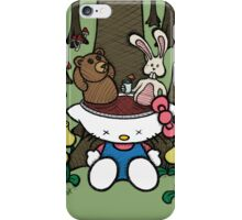 Teddy Bear and Bunny - Goodbye Kitty iPhone Case/Skin