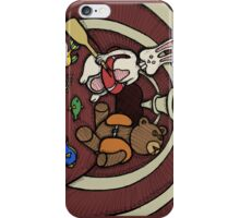 Teddy Bear And Bunny - Hard To Swallow iPhone Case/Skin