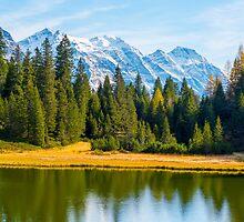 Alpine lake  by Mats Silvan