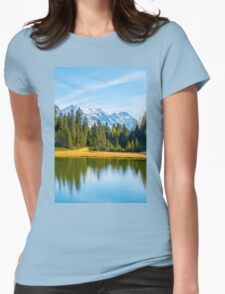 Alpine lake  Womens Fitted T-Shirt