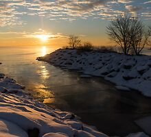 Sunshine on the Ice - Lake Ontario, Toronto, Canada by Georgia Mizuleva