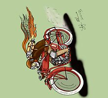 STEAMPUNK INDIAN STYLE MOTORCYCLE IPAD COVER by squigglemonkey