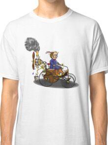 Steampunk vintage Peugeot style car Classic T-Shirt