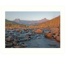 Drakensberg at Sunrise Art Print