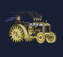 Steampunk Vintage Tractor One Piece - Short Sleeve