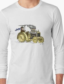 Steampunk Vintage Tractor Long Sleeve T-Shirt