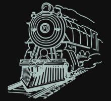 vintage train illustration Baby Tee