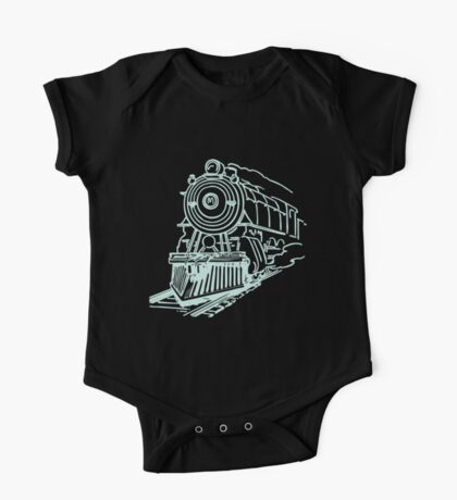 vintage train illustration One Piece - Short Sleeve