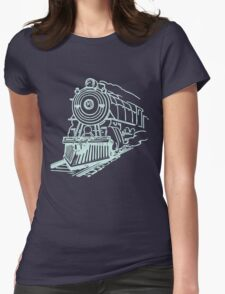 vintage train illustration Womens Fitted T-Shirt