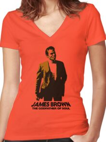 Godfather of Soul Women's Fitted V-Neck T-Shirt