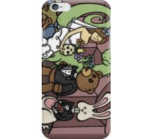 Teddy Bear And Bunny - Teddy's Dream iPhone Case/Skin