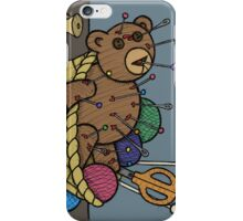 Teddy Bear And Bunny - Pin Cushion iPhone Case/Skin