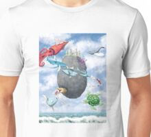 Floating Castle and Flying Fish Unisex T-Shirt