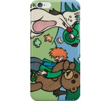 Teddy Bear And Bunny - Not So Lucky iPhone Case/Skin