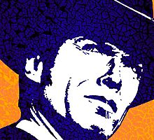 CLINT EASTWOOD-CRACKED PAINT by OTIS PORRITT