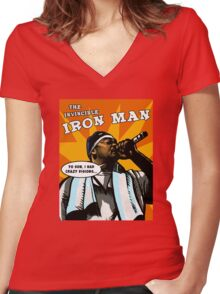 The Invincible Iron Man Women's Fitted V-Neck T-Shirt