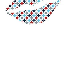 Red White And Blue Diamonds Lips by kwg2200