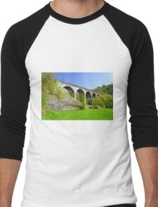 Monsal Dale Viaduct Men's Baseball ¾ T-Shirt