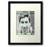 Set The Controls For The Starless Sun Framed Print