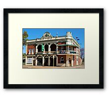 Recreation Hotel Boulder Western Australia Framed Print