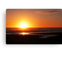 Sunset at Piha, Auckland, New Zealand Canvas Print