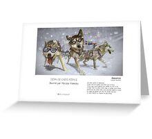 """""""Ammarnäs """" en Mots & Image (M.Konecka) Greeting Card"""