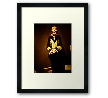 NO Ma'am I'm NOT part of the Skull and Crossbones Society....I've just had a cold! Framed Print
