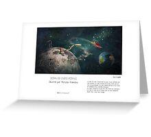 """La Lune"" en Mots & Image (M.Konecka) Greeting Card"