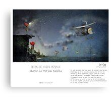 """Le Cap"" en Mots & Image (M.Konecka) Canvas Print"