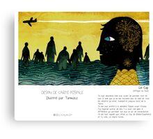 """""""Le Cap"""" en Mots & Image (Tarmasz) Canvas Print"""