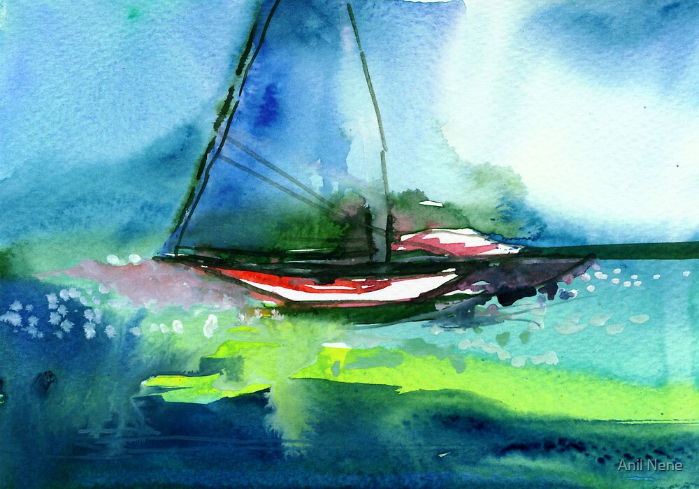 Sailing 2 by Anil Nene