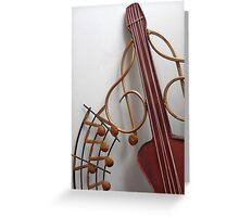 CROSSED STRINGS Greeting Card