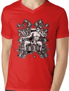 King's Throne of Barbells Mens V-Neck T-Shirt