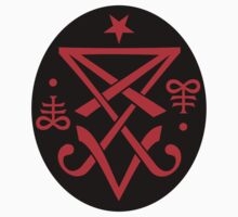 Sigil of Lucifer Sticker by TropicalToad