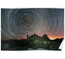 Startrails at Bombo, NSW Poster