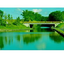 Bridge in Alsace Lorraine Photographic Print