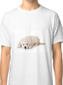 Fluffy Puppy golden retriever Classic T-Shirt