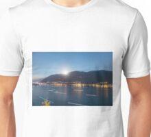 Alpine lake with light trails Unisex T-Shirt