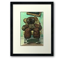 The Old and Unloved Teddy Bear Framed Print