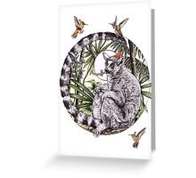 Party On Lemur Greeting Card