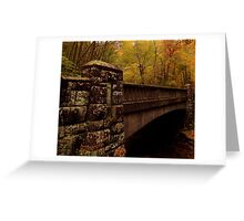 Bridge in fall colors Greeting Card