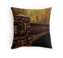Bridge in fall colors Throw Pillow