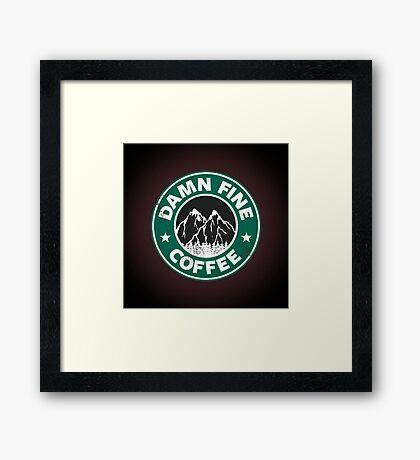 Damn Fine Coffee Framed Print