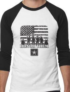 Honor Them-Army Men's Baseball ¾ T-Shirt