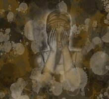 Sepia Weeping Angel by AnabelleM
