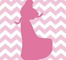Aurora Sleeping Beauty silhouette on chevron by sweetsisters