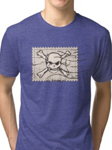Skull Crack Stamp Tri-blend T-Shirt