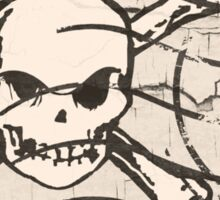 Skull Crack Stamp Sticker