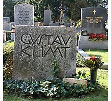 Grave of Gustav Klimt. Photographic Print