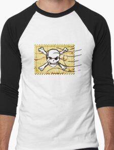 Skull Crack Stamp 2 Men's Baseball ¾ T-Shirt